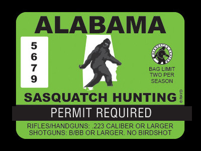 Alabama Bigfoot Hunting Permits