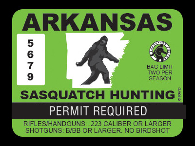 Arkansas Bigfoot Hunting Permits