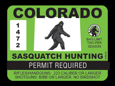 Colorado Bigfoot Hunting Permits