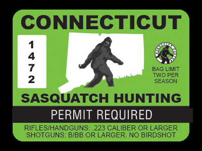 Connecticut Bigfoot Hunting Permits