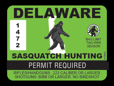 Delaware Bigfoot Hunting Permits