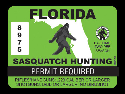 Florida Bigfoot Hunting Permits