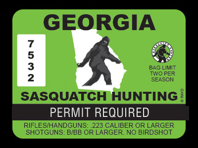 Georgia Bigfoot Hunting Permits