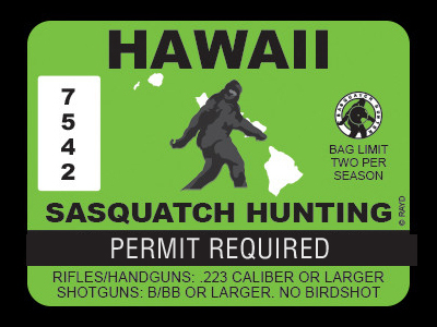 Hawaii Bigfoot Hunting Permits