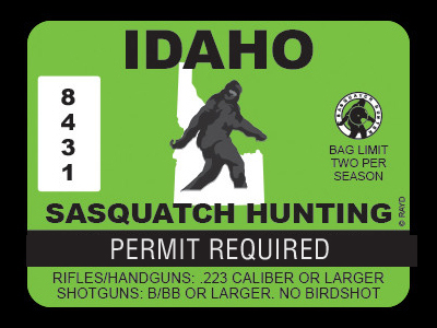 Idaho Bigfoot Hunting Permits