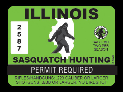 Illinois Bigfoot Hunting Permits