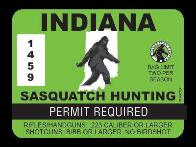 Indiana Bigfoot Hunting Permits