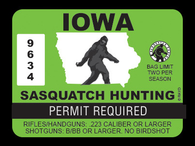 Iowa Bigfoot Hunting Permits