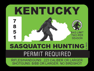 Kentucky Bigfoot Hunting Permits