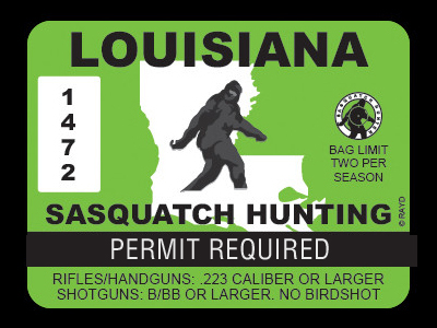 Louisiana Bigfoot Hunting Permits