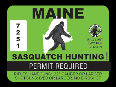 Maine Bigfoot Hunting Permits