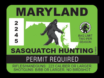 Maryland Bigfoot Hunting Permits