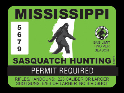 Mississippi Bigfoot Hunting Permits
