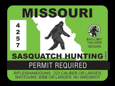 Missouri Bigfoot Hunting Permits