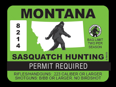 Montana Bigfoot Hunting Permits