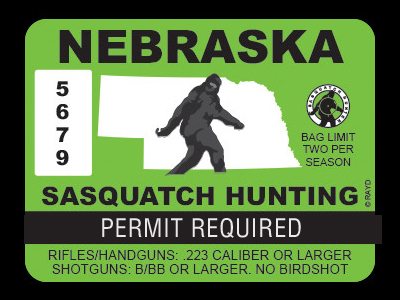 Nebraska Bigfoot Hunting Permits