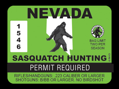 Nevada Bigfoot Hunting Permits