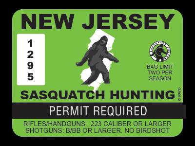 New Jersey Bigfoot Hunting Permits