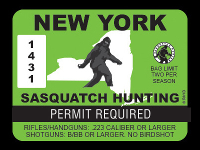 New York Bigfoot Hunting Permits