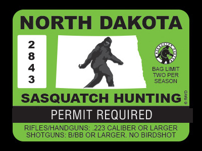 North Dakota Bigfoot Hunting Permits