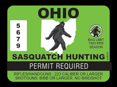 Ohio Bigfoot Hunting Permits