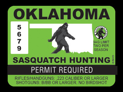Oklahoma Bigfoot Hunting Permits