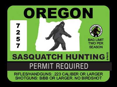 Oregon Bigfoot Hunting Permits