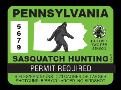 Pennsylvania Bigfoot Hunting Permits