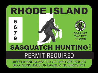 Rhode Island Bigfoot Hunting Permits