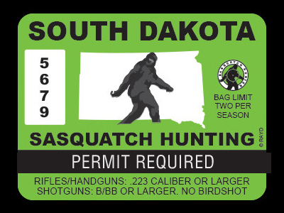 South Dakota Bigfoot Hunting Permits