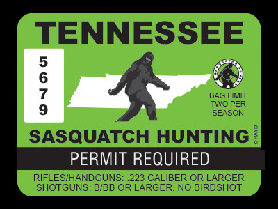 Tennessee Bigfoot Hunting Permits