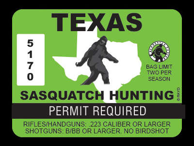 Texas Bigfoot Hunting Permits