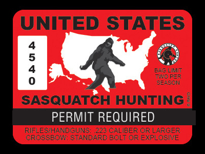 United States Bigfoot Hunting Permits