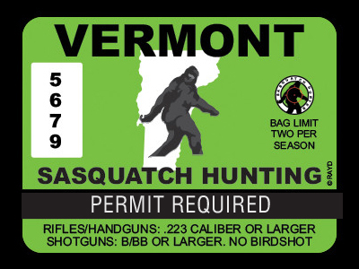 Vermont Bigfoot Hunting Permits
