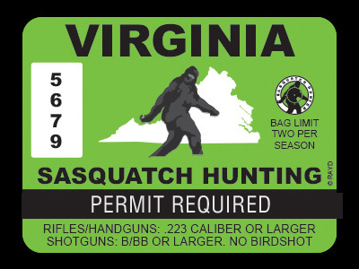 Virginia Bigfoot Hunting Permits