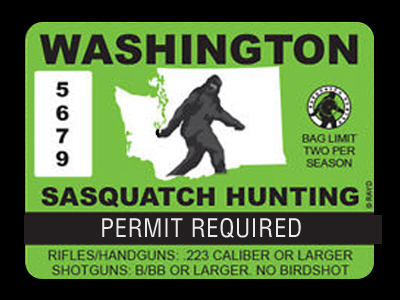 Bigfoot Hunting Permit Bigfoot Gifts Toys