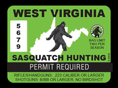 West Virginia Bigfoot Hunting Permits