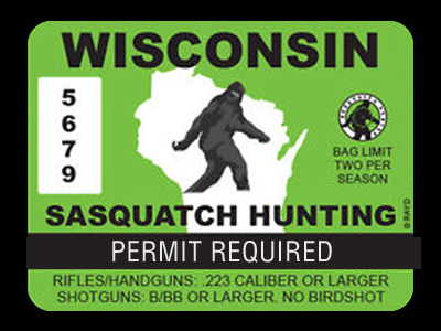 Wisconsin Bigfoot Hunting Permits