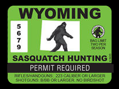 Wyoming Bigfoot Hunting Permits