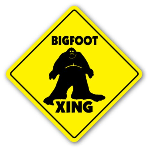 Bigfoot Crossing Signs